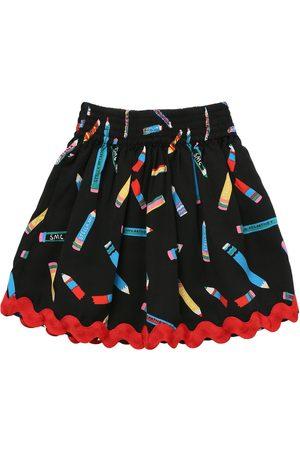 Stella McCartney Pencil Print Tencel Twill Skirt