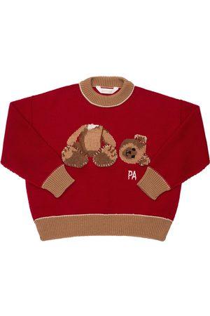 Palm Angels Jacquard Wool Knit Sweater