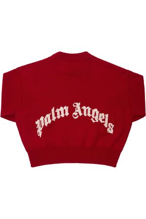 Palm Angels Drenge Strik - Jacquard Wool Knit Sweater