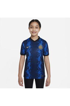 Nike Inter Milan 2021/22 Stadium Home- Dri-FIT fodboldtrøje til større børn