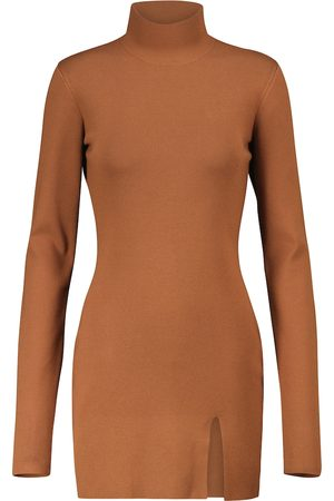 Zeynep Arcay Side-slit knit minidress