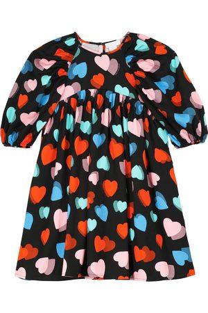 Stella McCartney Kvinder Mønstrede kjoler - Heart-printed balloon-sleeve dress