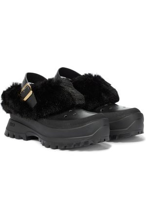 Stella McCartney Trace faux fur and rubber slippers
