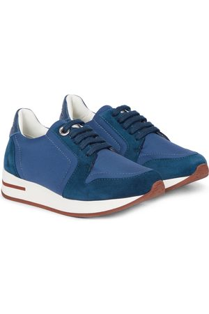 Loro Piana My Wind suede-trimmed sneakers