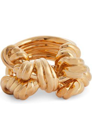 Bottega Veneta Knotted 18kt gold-plated ring