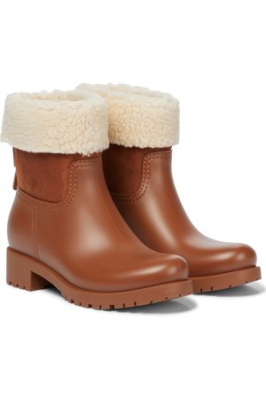 Chloé Jannet shearling-trimmed rubber boots