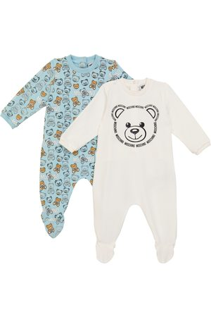 Moschino Baby set of 2 stretch-cotton onesies