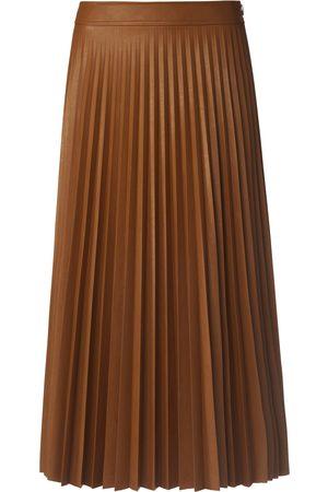 St. Emile Kvinder Lædernederdele - Plisseret nederdel i skindlook Fra brun