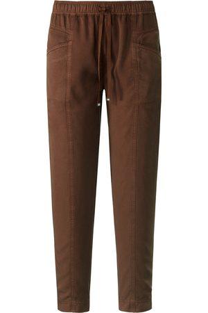 Peter Hahn Ankellange jog-pants pasform Cornelia Fra brun