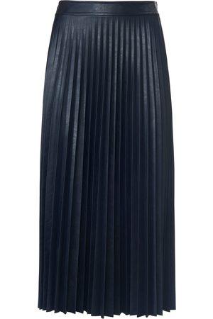 St. Emile Plisseret nederdel i skindlook Fra blå