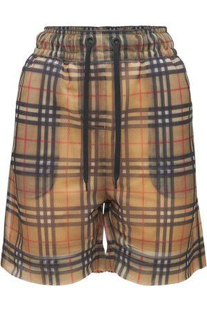 BURBERRY Tawney Check Logo Shorts