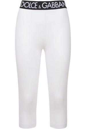 DOLCE & GABBANA Kvinder Leggings - Mid-length Tech Cotton Jersey Leggings