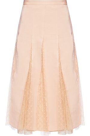 RED Valentino Midi skirt in grosgrain and tulle