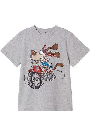Stella McCartney Kids T-shirt - Crazy Dog - Gråmeleret