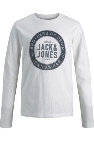 jack & jones Drenge Bomuldsjersey Langærmet T-shirt Mænd White