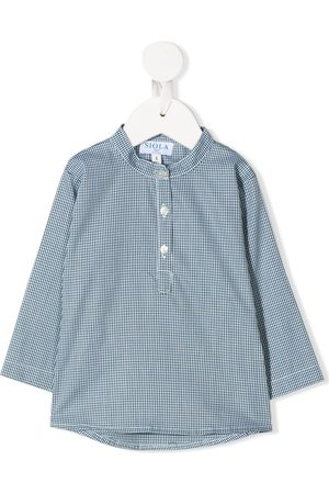 SIOLA Drenge Langærmede skjorter - Skjorte med mikro-tryk og knapper