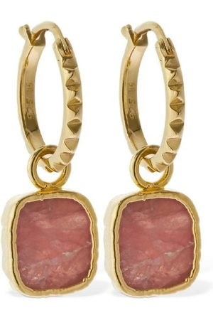 Missoma Rhodochrocite Charm Hoop Earrings
