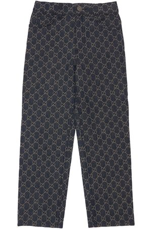 Gucci Piger Bukser - Gg Organic Cotton Denim Jacquard Pants