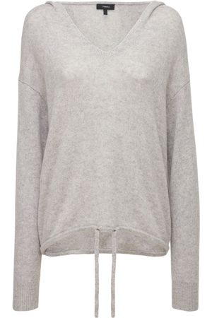 THEORY Relaxed Fit Cashmere Knit Hooded Sweater