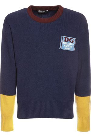 Dolce & Gabbana Dg Patch Wool Knit Sweater