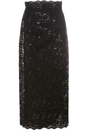 Dolce & Gabbana Kvinder Midinederdele - Macramé Lace Midi Skirt