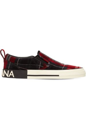 Dolce & Gabbana Mænd Casual sko - Tartan Velvet Slip-on Sneakers