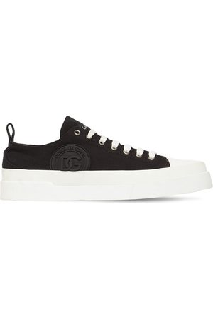 Dolce & Gabbana Mænd Sneakers - Portofino Light Canvas Low Top Sneakers