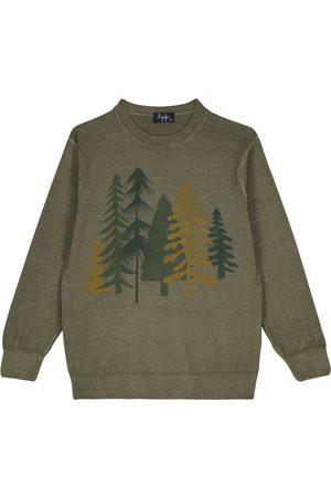 Il Gufo Printed wool sweater