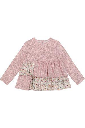 Il Gufo Floral cotton blouse