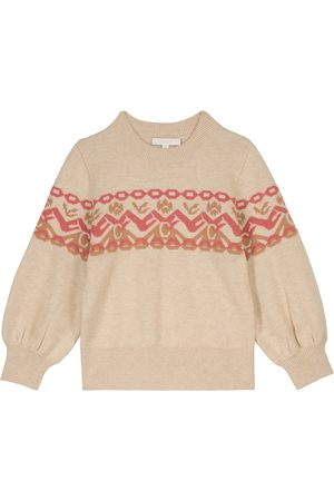 Chloé Kids Piger Strik - Cotton and wool intarsia sweater
