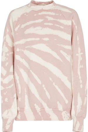 LES TIEN Kvinder Sweatshirts - Tie-dye cotton fleece sweatshirt
