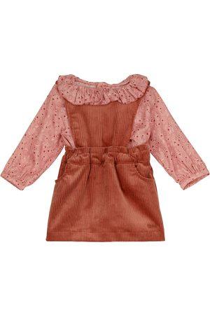 Chloé Kids Baby paisley blouse and corduroy dress set