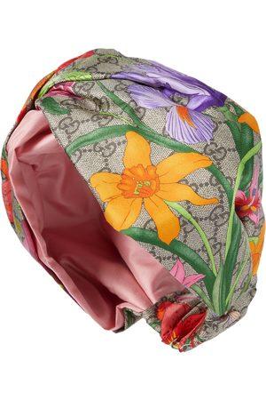 Gucci GG Flora printed silk headband