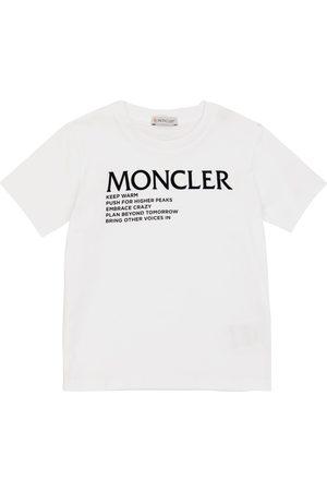 Moncler Drenge Kortærmede - Logo cotton T-shirt