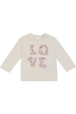 MONNALISA Baby floral cotton jersey top