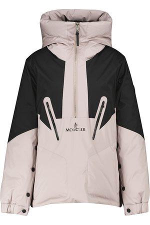 Moncler Iberis hooded half-zip down jacket