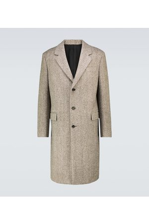 Bottega Veneta Boiled herringbone wool coat