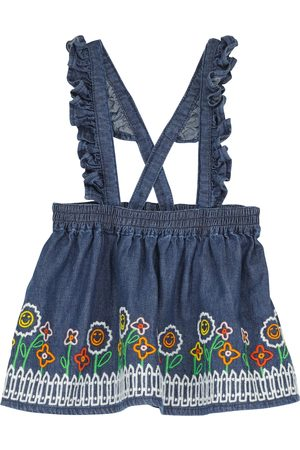 Stella McCartney Kids Embroidered denim skirt