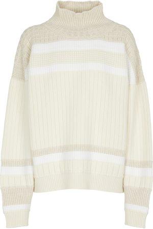 Barrie Kvinder Strik - Striped cashmere turtleneck sweater