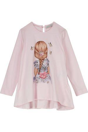 MONNALISA Piger Kortærmede - Printed cotton jersey top