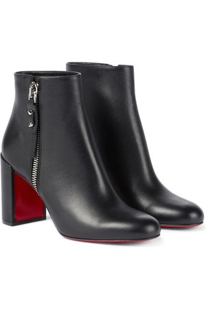 Christian Louboutin Ziptotal 85 leather ankle boots
