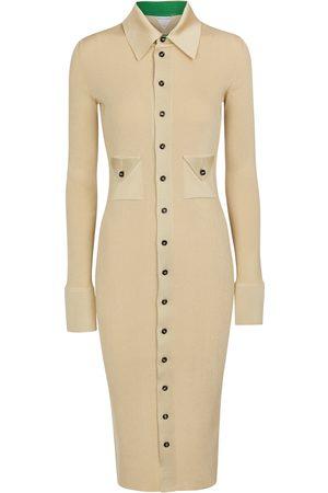 Bottega Veneta Kvinder Casual kjoler - Stretch silk-blend shirt dress
