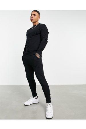 ASOS Træningssæt med sweatshirt og skinny-joggingbukser i let, økologisk materiale