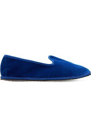 VIBI VENEZIA 10mm Lapis Lazuli Velvet Loafers