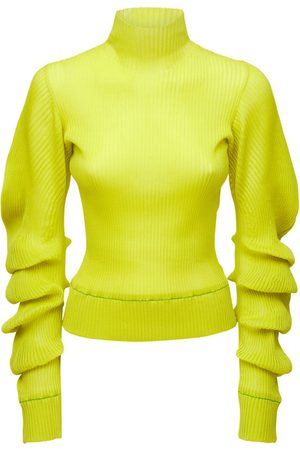 Bottega Veneta Kvinder Strik - Silk Rib Knit Turtleneck Sweater