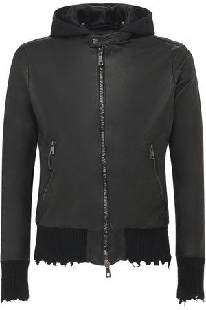 GIORGIO BRATO Leather Jacket W/detachable Hood