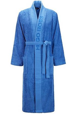 BOSS Unisex kimono-inspired dressing gown in twisted Egyptian cotton