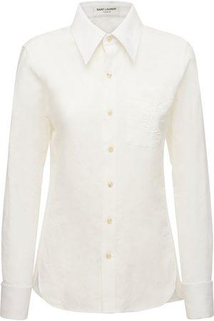 Saint Laurent Classic Cotton & Linen Shirt