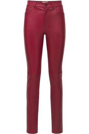 Saint Laurent Leather Skinny Pants