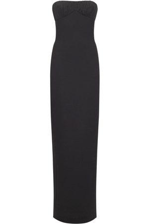 Saint Laurent Kvinder Festkjoler - Wool Bustier Gown
